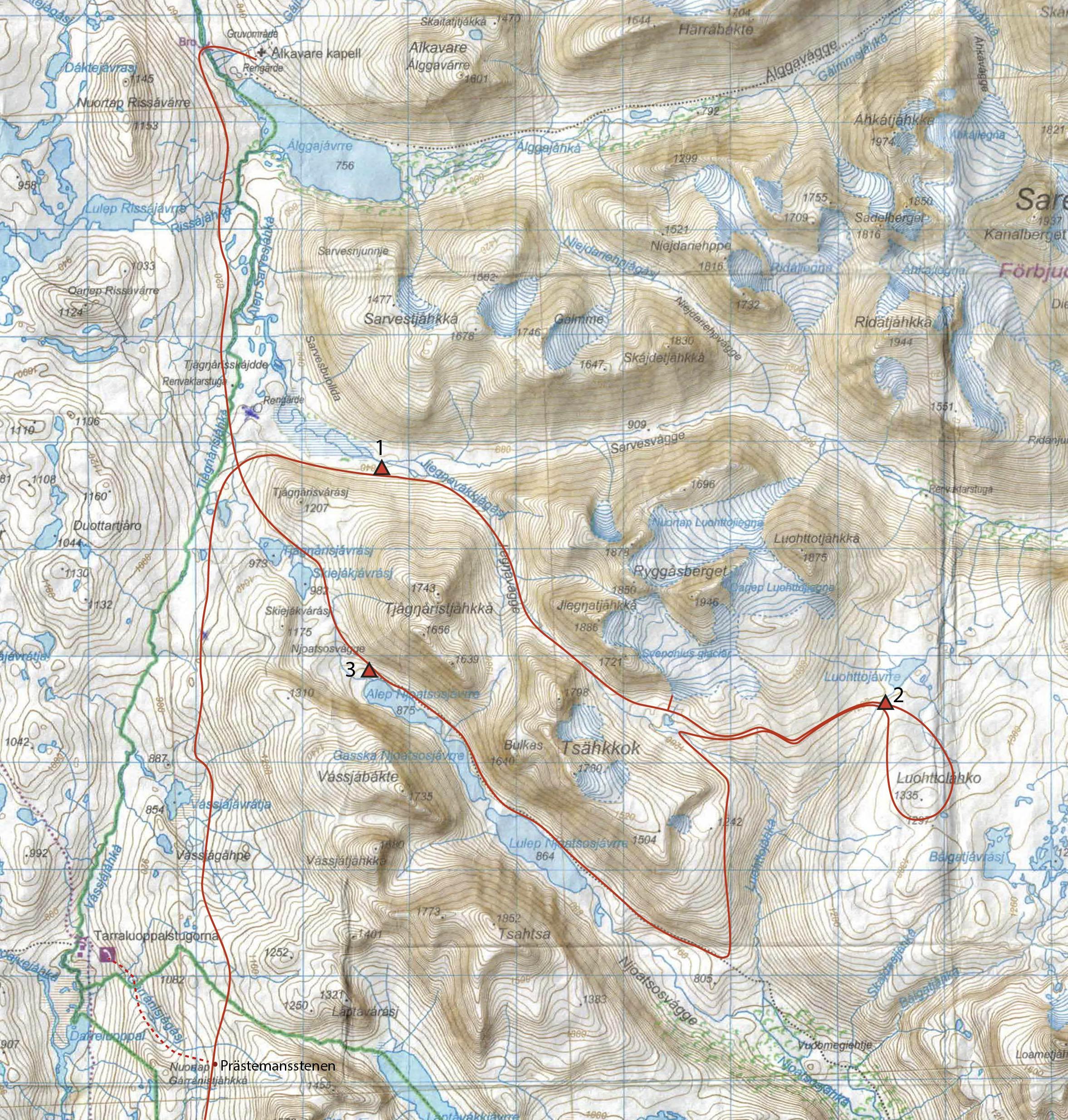 20-07-01, karta över Präststigen och Sarek 1.jpg
