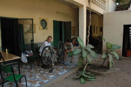 Montering av cykel i Bamako