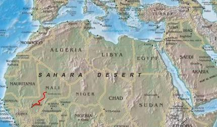 Sahara Kartta