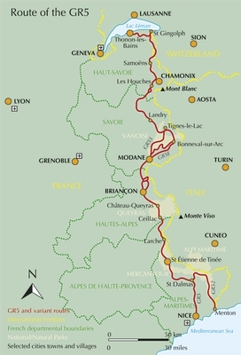karta frankrike alperna Vandring längs GR5 i franska alperna   Utsidan karta frankrike alperna