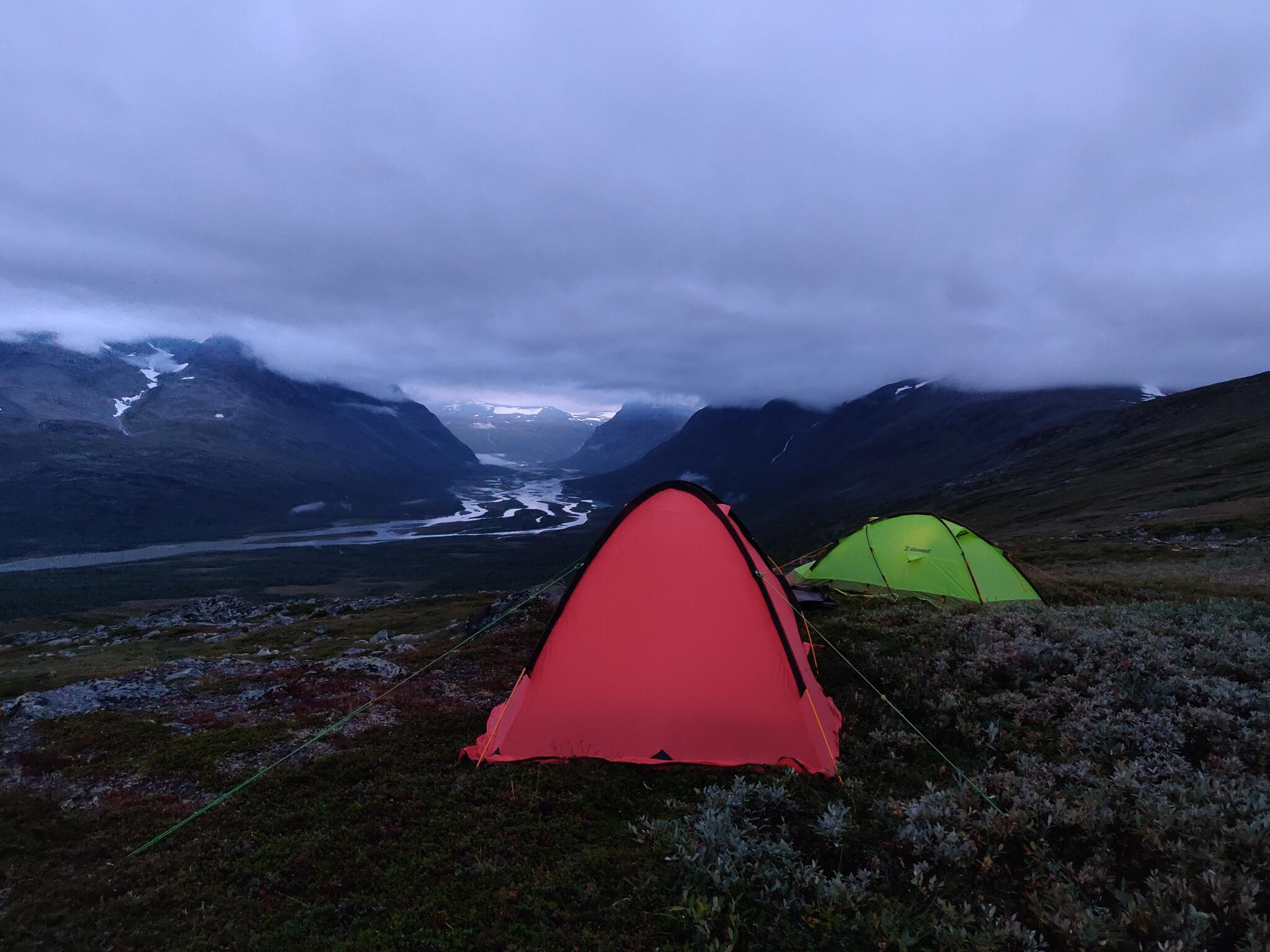 Our campsite with a view of Rapaselet.