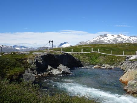 Bron över Caihnajohka.