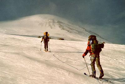 Elbrus på skidor