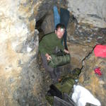 Första övernattningen i grottan vid Kandersteg